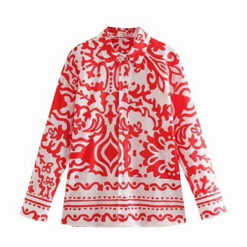 Camisa Estampada Roja ALIEXPRESS