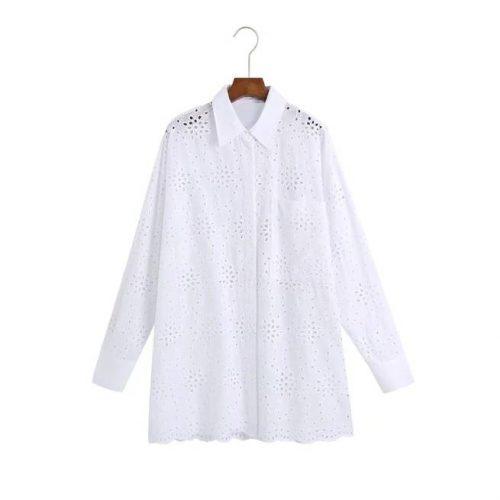 Camisa Larga Popelín Bordado ALIEXPRESS