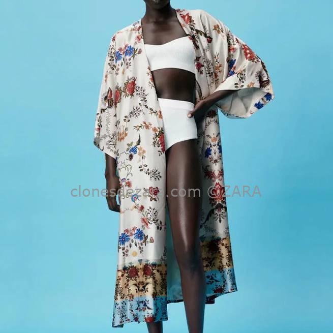 Kimono Estampado Multicolor ZARA