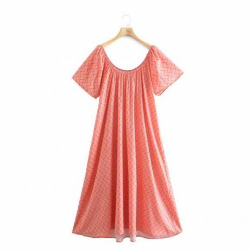 Vestido Estampado Mandarina ALIEXPRESS