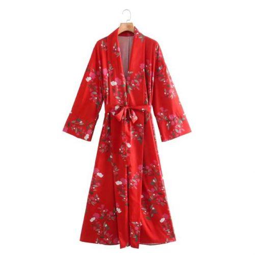 Vestido Largo Estampado Rojo ALIEXPRESS