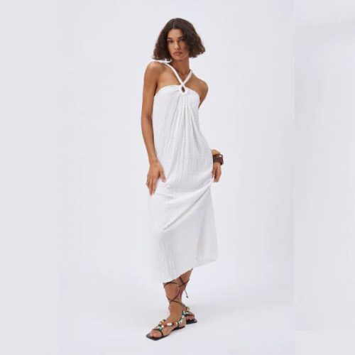 Vestido Largo Textura ZARA