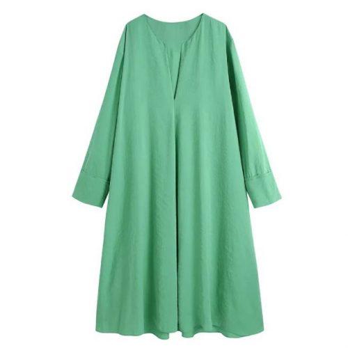 Vestido Verde Holgado ALIEXPRESS