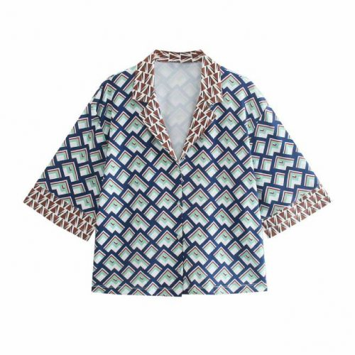 Camisa Estampada Fluida ALIEXPRESS
