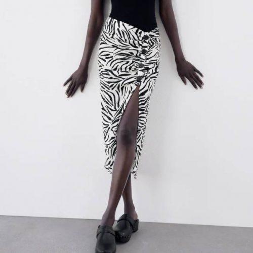 Falda Estampado Animal ZARA