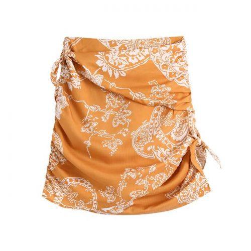 Falda Mini Estampada Naranja ALIEXPRESS