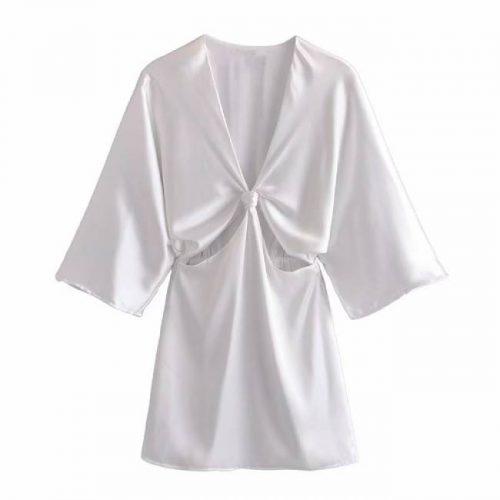 Vestido Blanco Satinado ALIEXPRESS