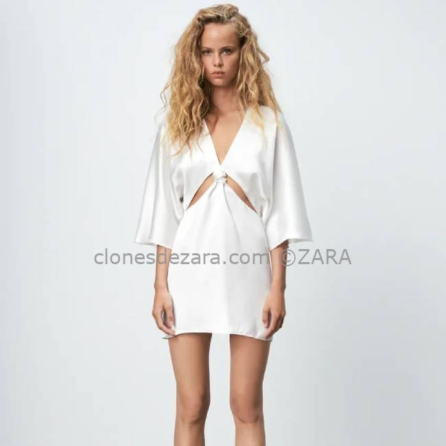 Vestido Blanco Satinado ZARA