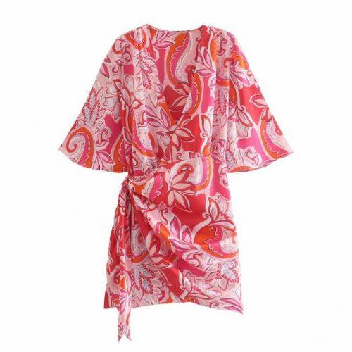 Vestido Mini Estampado Rojo ALIEXPRESS