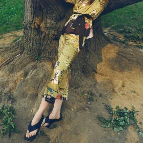 Pantalón Cropped Estampado Multicolor ZARA