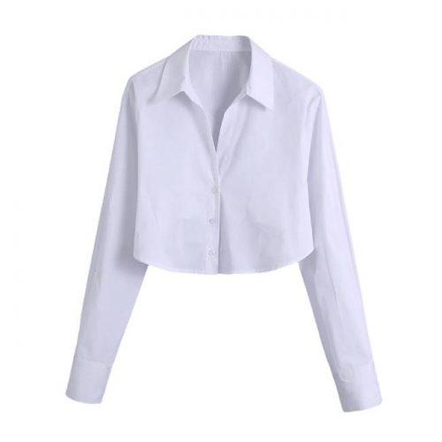 Camisa Crop Popelín Blanca ALIEXPRESS