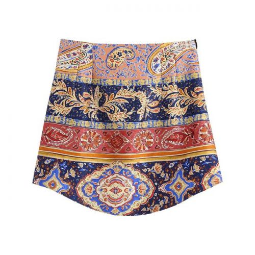 Mini Falda Estampada Multicolor ALIEXPRESS
