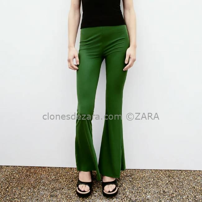 Pantalón Verde Fluido ZARA