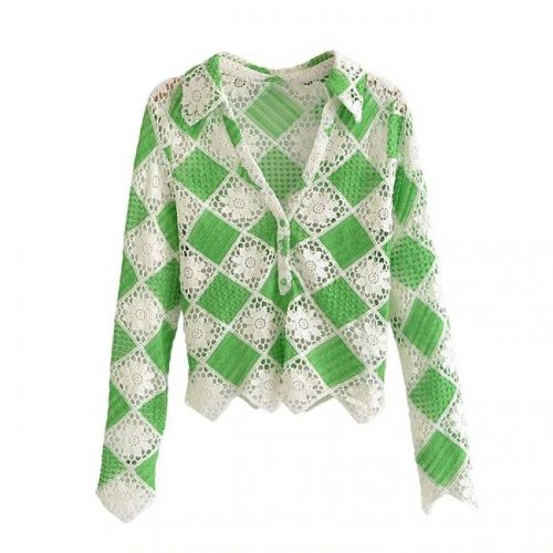 Top Crochet Verde ALIEXPRESS