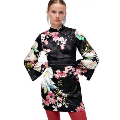 Vestido Kimono Estampado Floral ZARA