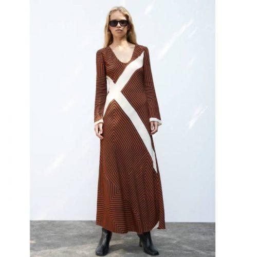 Vestido Midi Rayas ZARA