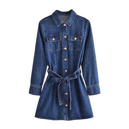 Vestido Mini Denim ALIEXPRESS