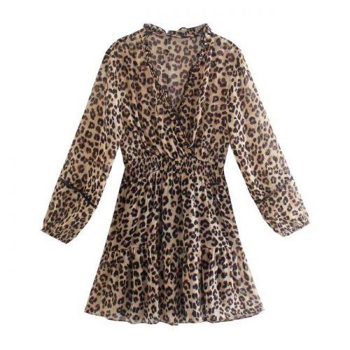 Vestido Mini Estampado Leopardo ALIEXPRESS