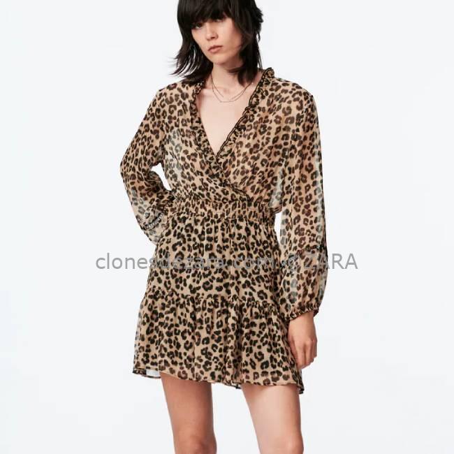 Vestido Mini Estampado Leopardo ZARA