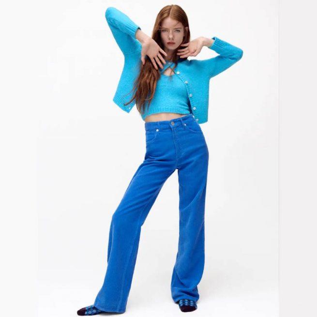 Pantalón Wide Leg Pana (Varios Colores) ZARA
